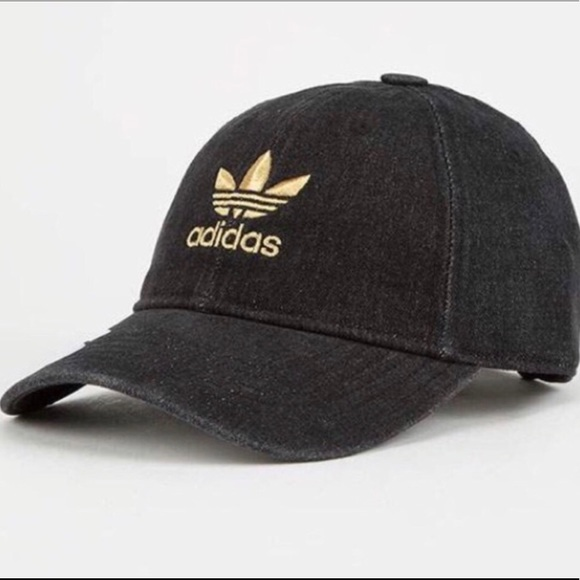 Adidas Black Gold Logo Dad hat 38c921afa28